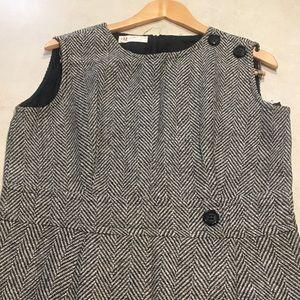 Vintage Peck & Peck 60's Wool Blend Wrap Dress